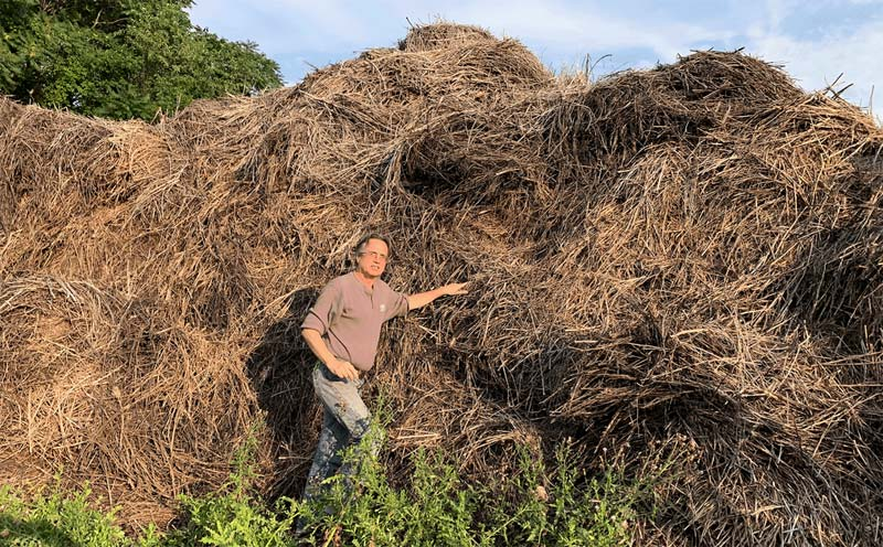 Andy Neal with Hemp Waste
